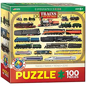 Trains 100 Piece Jigsaw Puzzle
