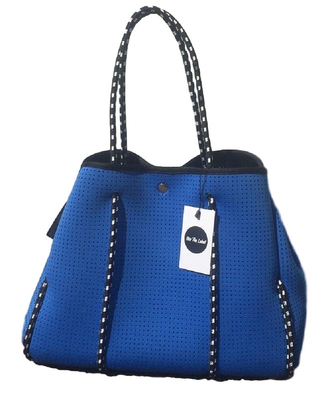 【アウトレット品】(ネオザレーベル) Neo the Label ネオプレントートバッグ マザーズバッグ Tote Bag [並行輸入品] B075WB2JMX  ブルー