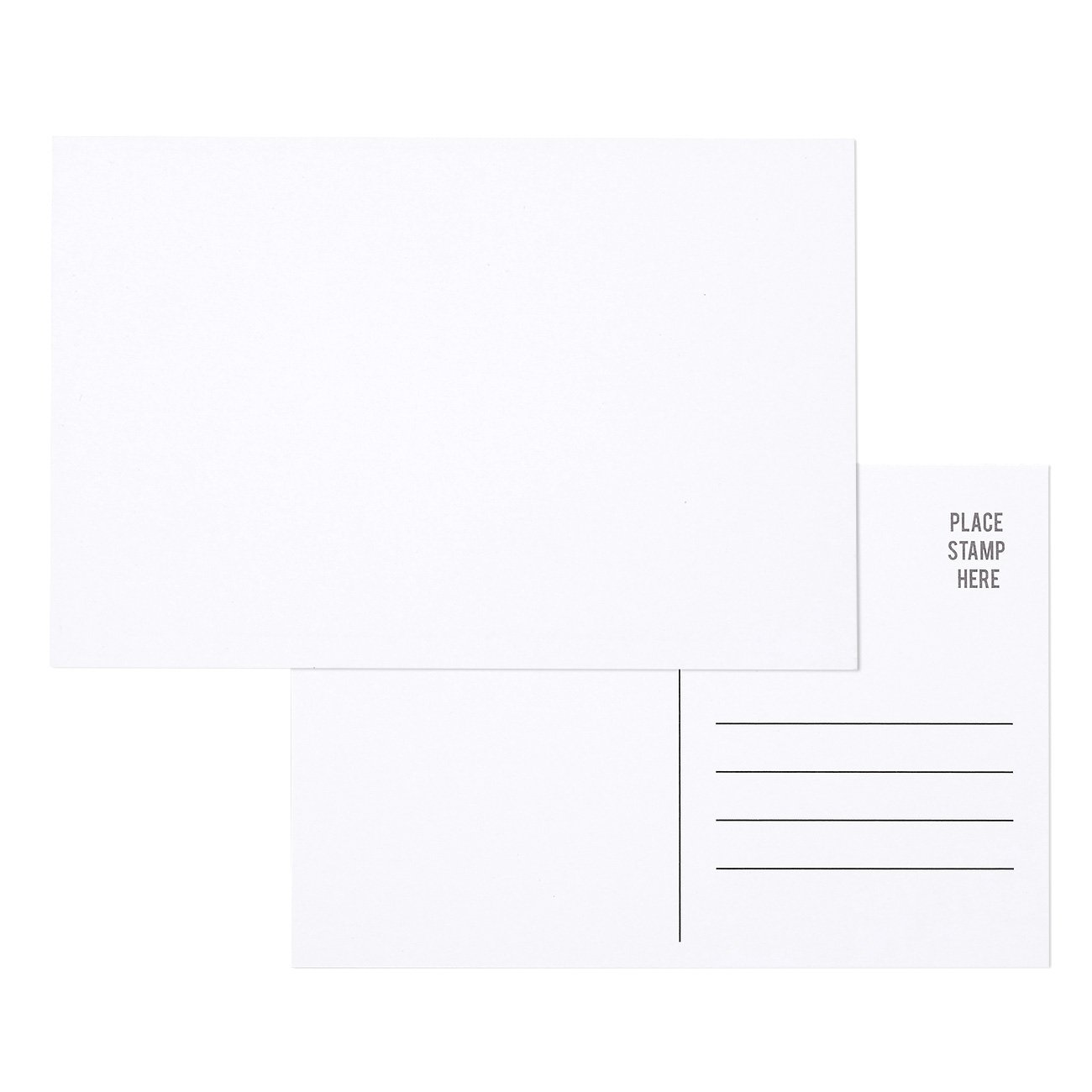 50 Stück Bulk Postkarten – blanko weiß 4 x 6 postversandfähigem ...