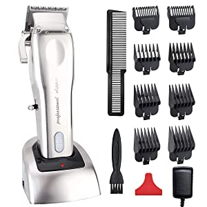 Professional Hair clippers for Men Pro Cordless Hair Trimmer Beard Trimmer Shaver Precision Trimmer Rechargeable Hair Cutting Kit Set with 8pcs Hair Clipper Guard