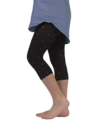 6391cd74cdd84 GIRLS CROPPED LEGGINGS WITH STRASS