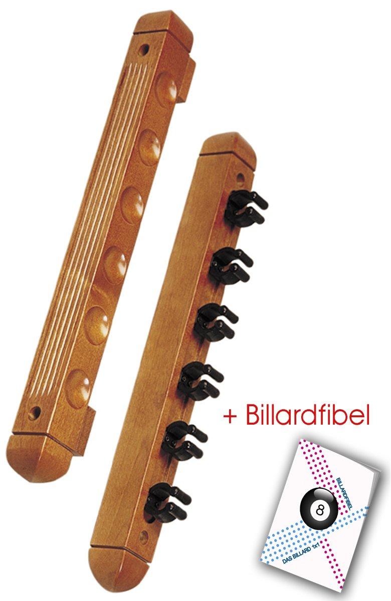 Taco de soporte de pared para 6 tacos de billar de madera de arce AUS