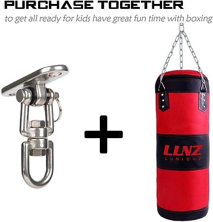Luniquz Percha para saco de boxeo, soporte de techo giratorio de acero inoxidable para bolsa pesada, columpio de gimnasio, trapezo, hamaca