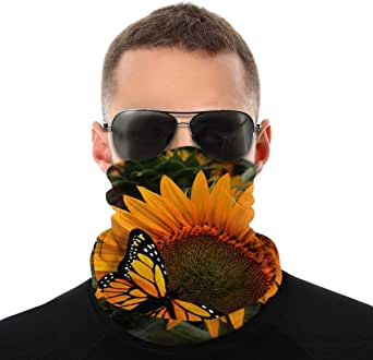 Unisex Bandana Magic Scarf Butterflies Skull Motorcycle Neck Gaiter Face cover