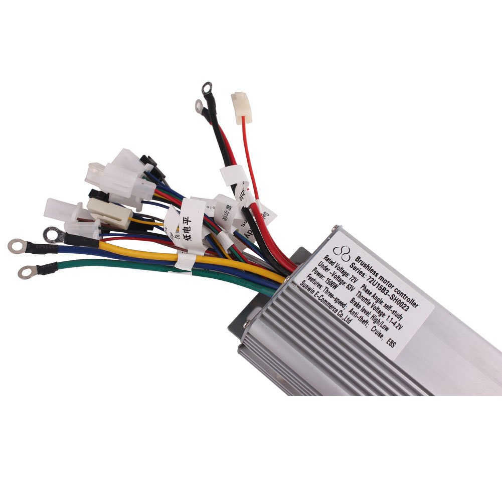 72v Wiring Diagram Sunwin Electric Bicycle Brushless Speed Motor Controller 1500w For E Bike Scooter Sports Outdoors