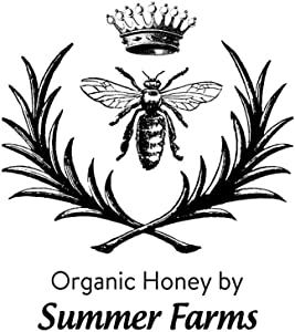 Business Stamper Crown Queen Bee Honey Organic Handmade by Summer Farms Office Stamps