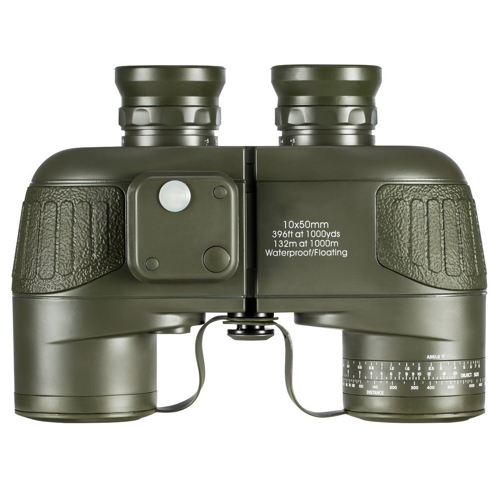 HUWAI XQQQ - Fernglas Diaplay Military HD Fernglas, Navigations Kompass und Entfernungsmesser, 10x50 Large Object Objektiv BAK4 Large View, wasserdicht und beschlagfrei