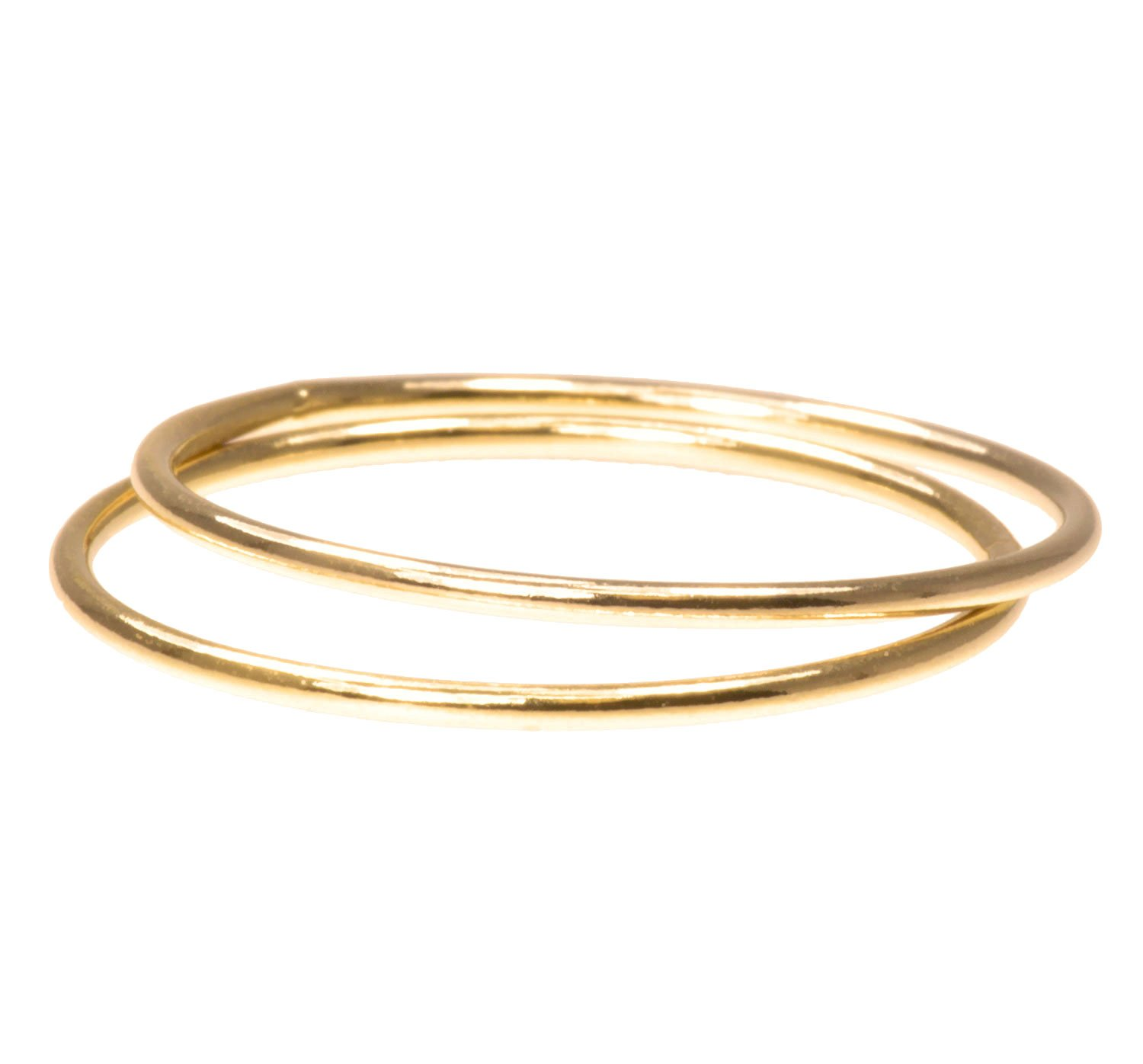 14K Gold Stacking Rings 1mm Round