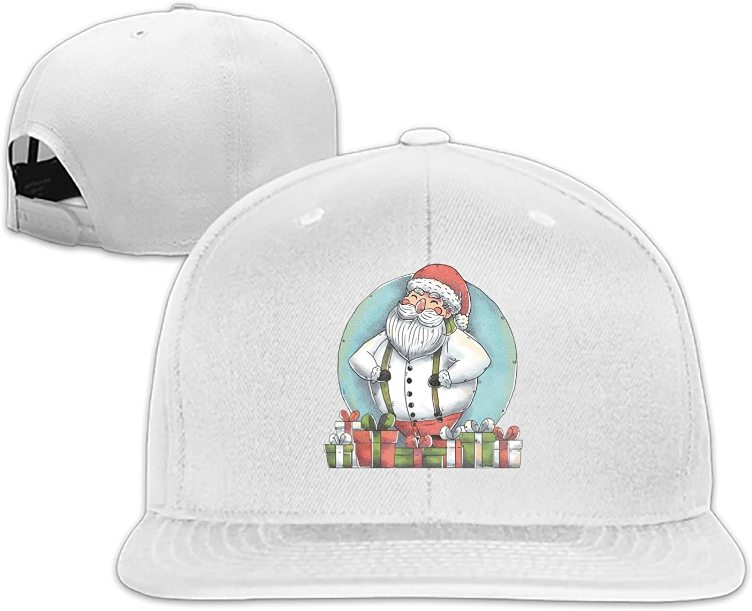 ShirAbe Merry Christmas Snapback Cap Plain Blank Caps Adjustable Flat Bill Hats for Men Women