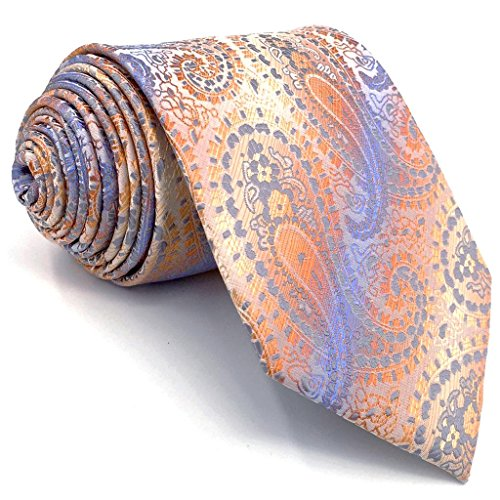 Shlax&Wing Mens Necktie Paisley Purple Multicolored Ties Silk New