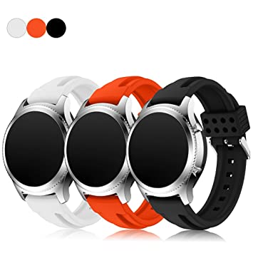 Samsung Gear S3 Replacement Watch Bands (Pack de 3), feskio accesorios suave silicona