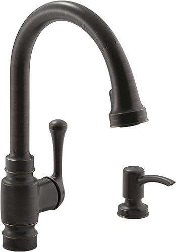 Kohler K-R72512-SD-2BZ Carmichael Kitchen Sink Faucet, Oil-Rubbed Bronze