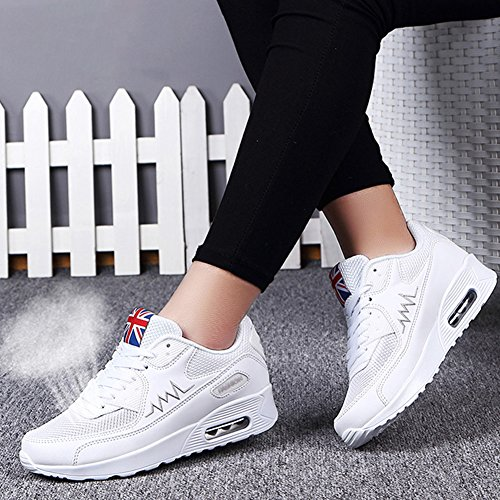 Shoes Travelling 953 Fashion Women's fereshte White Sneakers Sport Cushion Air Walking wqfwF7CY
