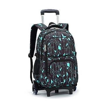 THBEIBEI Rolling Laptop Backpack Equipaje Mochila Sobre Ruedas Trolley Bolsas Escolares con Seis Ruedas para Estudiantes