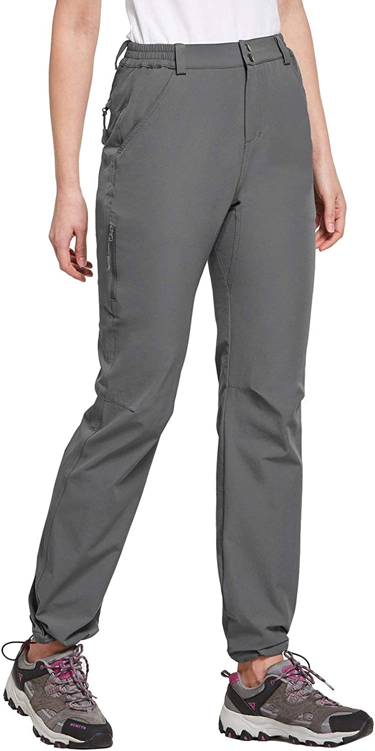 BALEAF Womens Quick Dry Hiking Pants UPF 50 Workout Lightweight Sportswear with Zipper Pockets