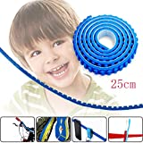 Toy Block Tape, Loops Compatible Baseplate Toy Brick Building Block Tape, Fxexblin 25cm,50cm Reusable Adhesive Strips, Multiple Colors (25cm, blue)