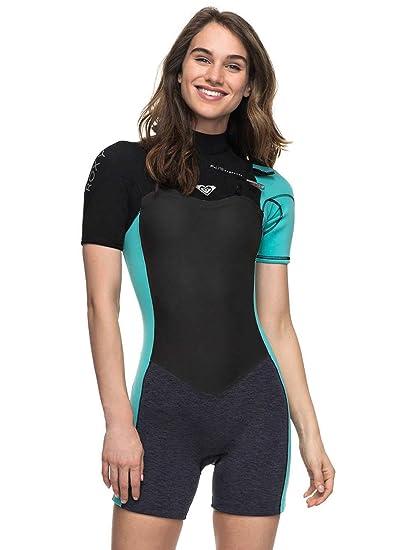 Roxy 2018 Syncro Series 2mm Chest Zip Shorty Wetsuit Black ERJW503005  Sizes- - Ladies 8 c0787ba67