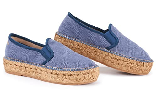 302a6394999 VISCATA Handmade in Spain Castell Flatform, Authentic and Original Spanish  Made Canvas Espadrille Flats