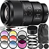 Sony FE 90mm f/2.8 Macro G OSS Lens with 7PC Accessory Bundle – Includes 3PC Filter Kit (UV + CPL + FLD) + 4PC Macro Filter Set (+1, 2, 4, 10) + 6PC Graduated Color Filter Set + MORE