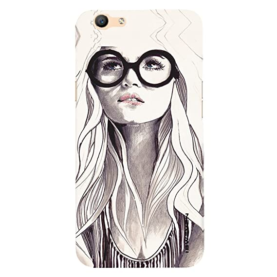 ISweven Printed OppoF1s 3232 Cute Nerd Girl Drawing Design Multicolored Matte Finish Back Case Cover For Oppo