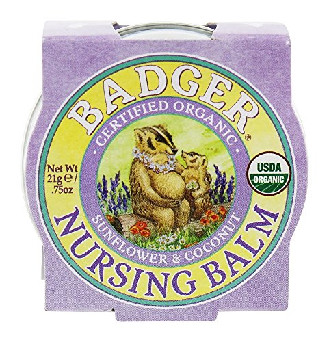 Badger Organic Nursing Balm – Sunflower & Coconut – 0.75oz