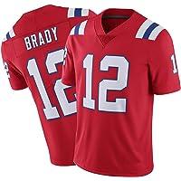 CLKJ Patriots # 12 Brady Elite Rugby Jersey-Uniforme de fútbol Americano Uniforme de competición de Entrenamiento para…