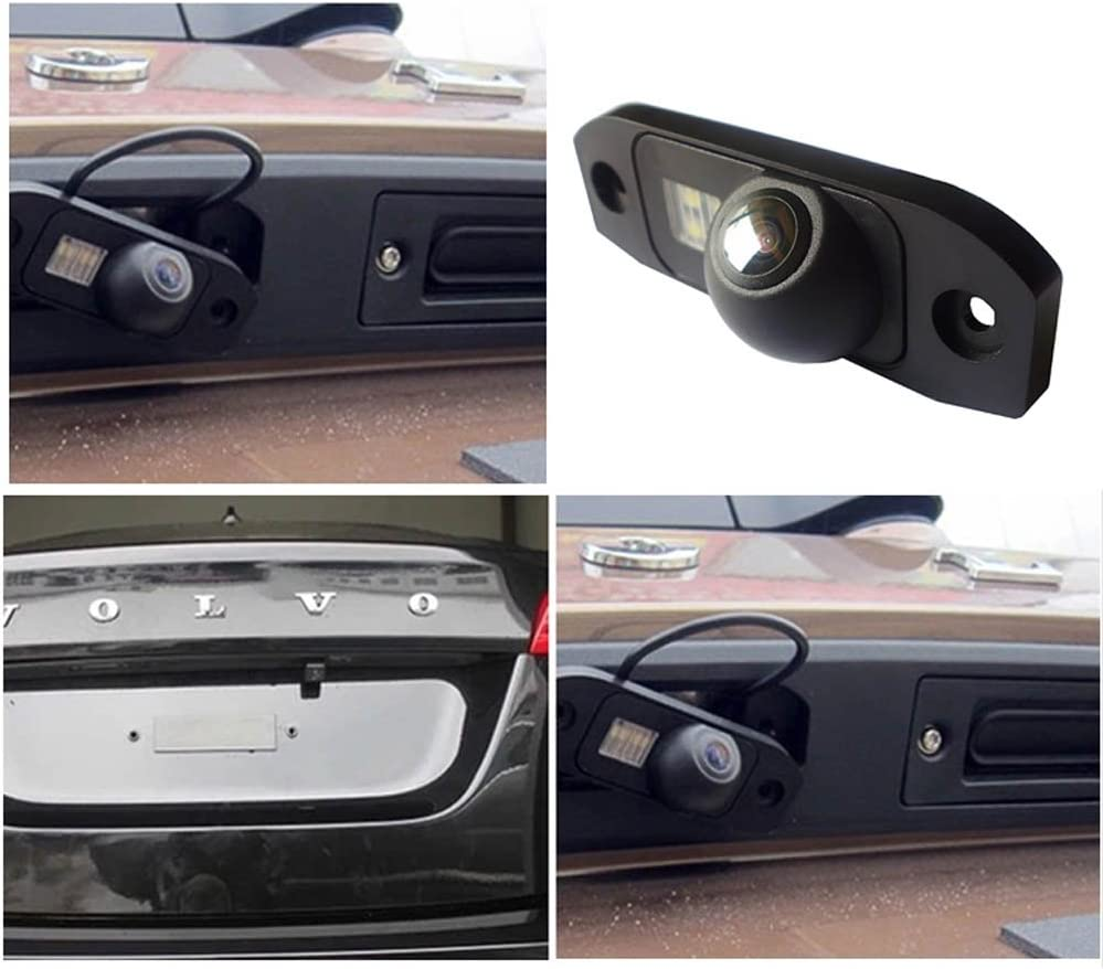 Dynavsal Waterproof Backup Camera Color Car Rear View Camera 170 Degree Viewing Angle License Plate with Night Vision for S80L//S40L//S80//S40//S60//V60//XC90//XC60//C70//S60L