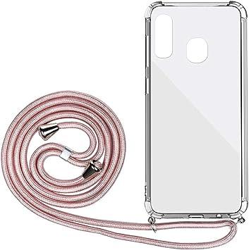 DigerUK Funda para Compatible with Samsung Galaxy A20E Suave TPU Caucho de Silicona Case con Correa Colgante Ajustable.