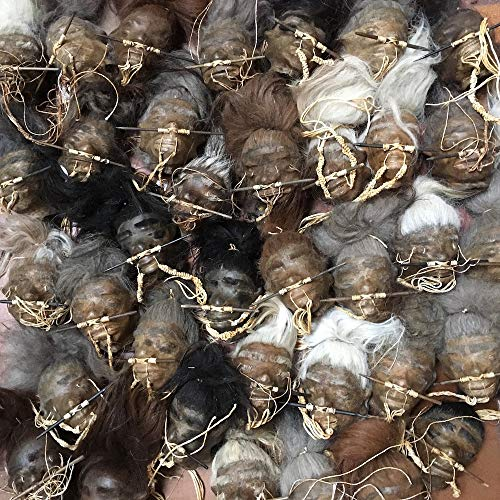 Daprofe Shrunken Head Replica for Sale Real Voodoo Juju Includes one(1) Head Similar to Those Shown in Photo -