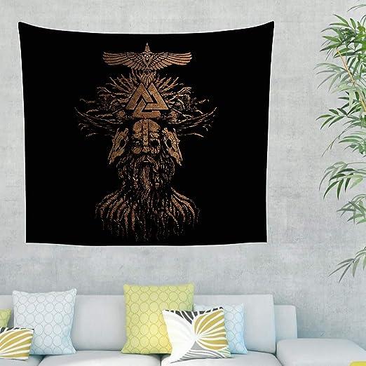 Tapiz de pared étnico nórdico con mitología legendaria de Golden ...