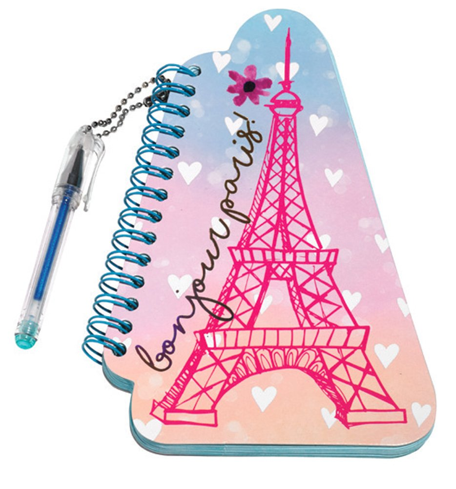 Amazon com 3c4g eiffel tower mini notepad with mini glitter ink gel pen 36085 office products
