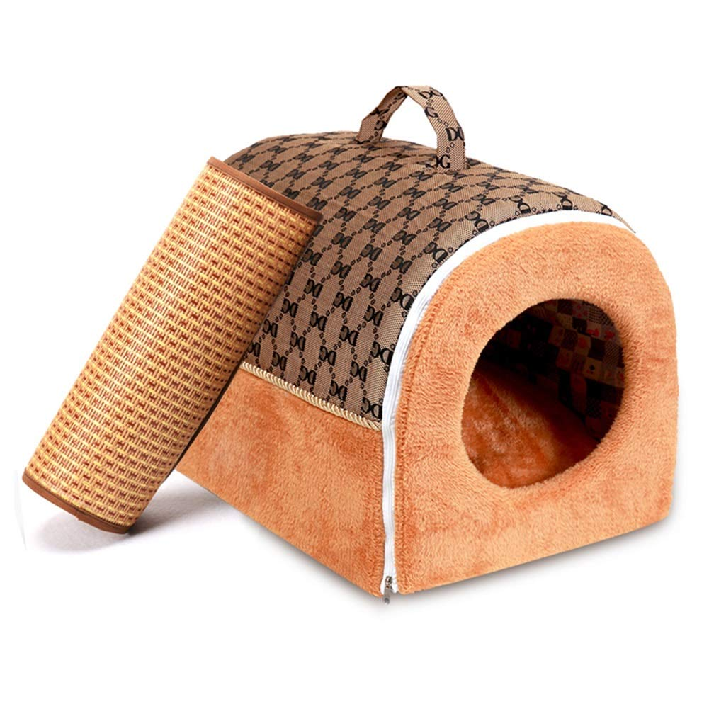 3 L 3 L Pet Nest, Indoor Soft Plush Warm Kennel House Portable Sleeping Dog Room Bed Pet Cat Puppy House Bed Pet Nest (color   3, Size   L)