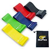 Resistance loop Exercise band, Set of 5 different levels with Carry bag