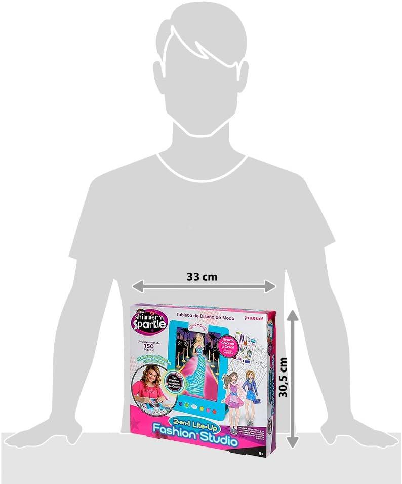 Shimmer /& Sparkle 2 In 1 Lite Up Crystal Craze Fashion Design Tablet Studio