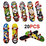 Gtlzlz 20pcs Professional Mini Metal Fingerboards/ Finger Skateboard, Unique Matte Surface Party Favors Novelty Toys for Kids Party Supplies (Random Pattern)