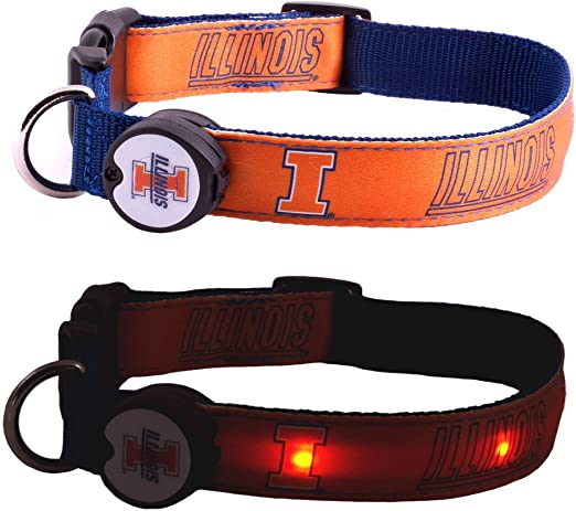 Pet Goods NCAA Illinois Illini Dog Collar Small