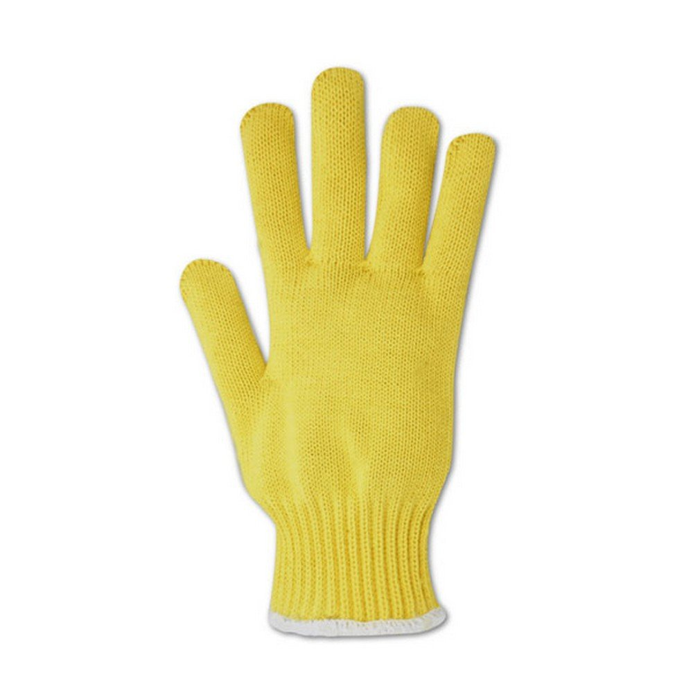 Magid Glove & Safety 593KEV-RB Magid Cut Master 593KEVRB Heavyweight Kevlar Seamless Knit Gloves - Cut Level 4, Men's (Fits Large), Yellow , Men's (Fits Large) (Pack of 12)