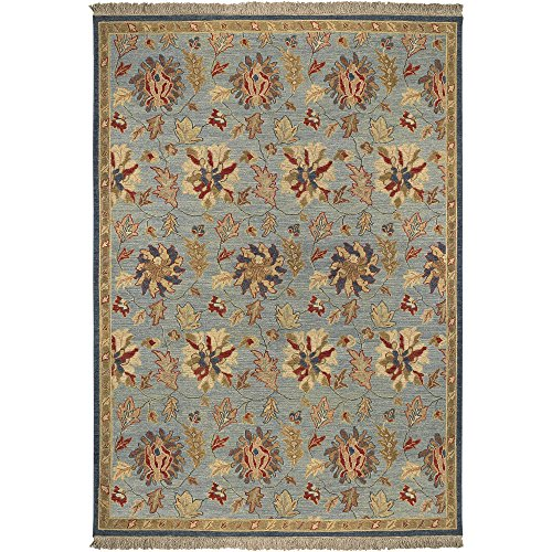 Surya Sonoma SNM-8991 Transitional Hand Knotted 100% New Zealand Wool Blue 6' x 9' Area Rug - Sonoma Cognac