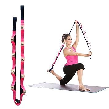 Jian ya na yoga estiramiento correa con 10 pasadores de ...