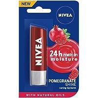 NIVEA Lip Balm, Pomegranate Shine, 4.8g
