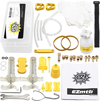 Bicycle Hydraulic Disc Brake Mineral Oil Bleed Kit Funnel Set Bike Tool PartH FJ