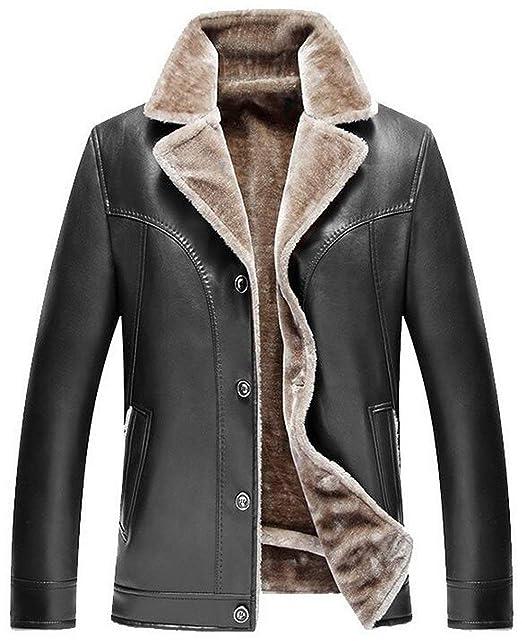 c6aa3be02f4f6 Hommes Mode Costume Col Business PU Cuir Faux Épaissir Manteau Chaud Vestes  Mode Chic Fourrure Trench