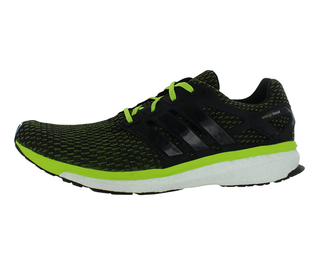 87073d8dd47a Adidas Mens Energy Boost Reveal Running Shoes Black volt M18818 Size 10   Amazon.co.uk  Shoes   Bags