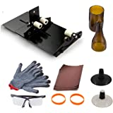 Wine Bottle Cutting Tool Kit, AceList Stained Glass Cutting Tool Kit Wine Jar Etching for DIY Glassware w/ Protective Goggle Glove Glass Stopper