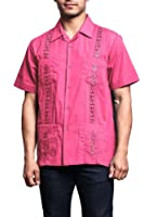 G-Style USA Men's Short Sleeve Cuban Guayabera Shirt