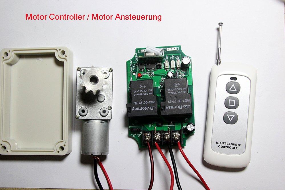 Lejin Universal 12V DC Motor Ansteuerung Funkfernbedienung Hoch ...