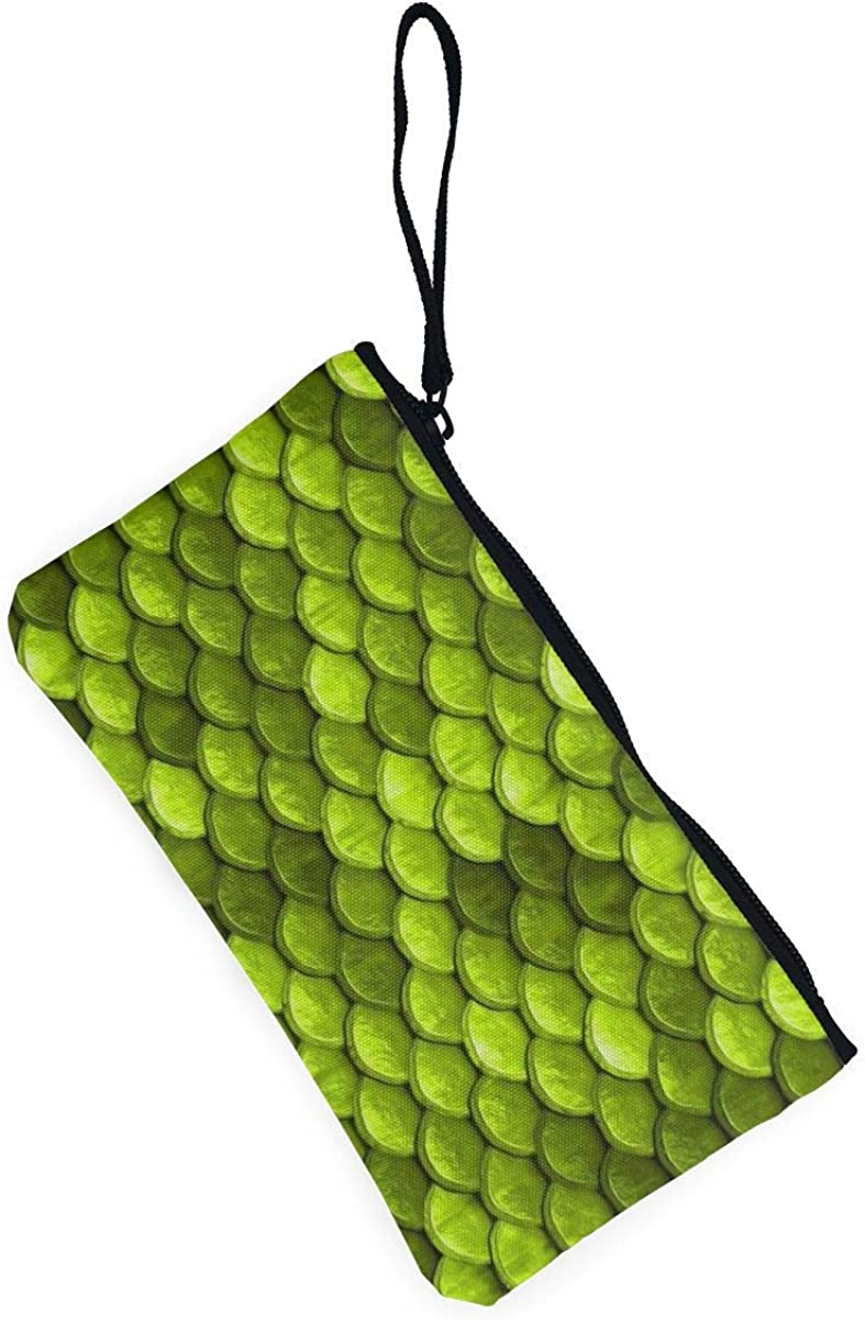 Portable Tote Purse Travel Purse Wristlet Tote Bag Beautiful Lime Green Mermaid Fish Scales Wristlet Clutch Wallet for Women Girls Small Clutch Organizer Wallets Ladies Clutch Long Purse