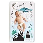 Stretchy Fitted Pack n Play Playard Sheet Set-Brolex Portable Mini Crib Sheets,Convertible Playard Mattress Cover,Ultra Soft Material,Moonlight Hill