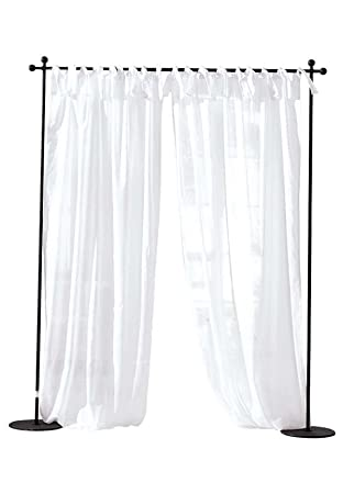 room divider curtain rod with post set