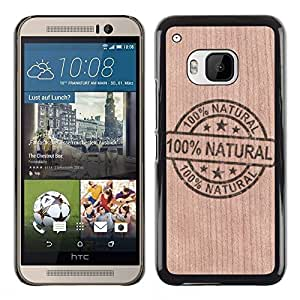 // MECELL CITY PRESENT // Cool Funda Cubierta Madera de cereza Duro PC Teléfono Estuche / Hard Case for HTC One M9 /// Natural Ecology Clean Energy ///